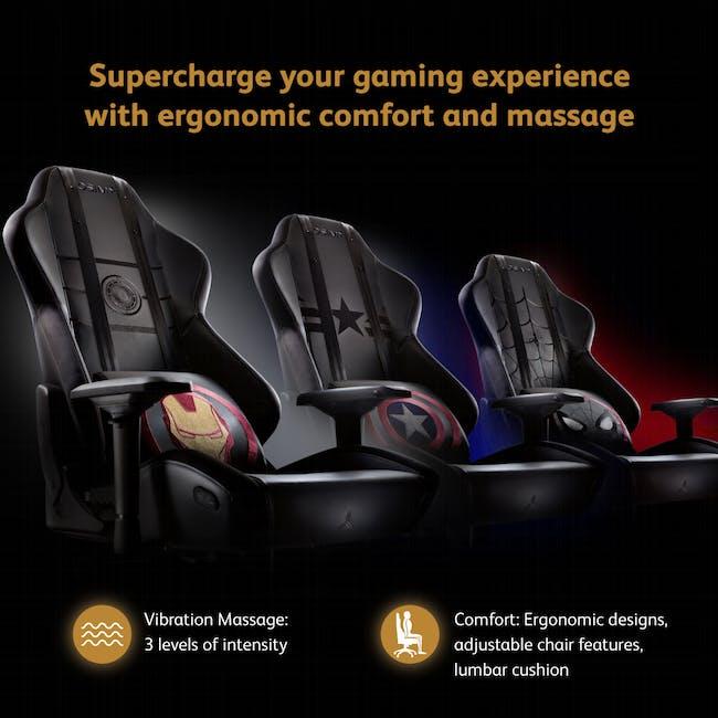 OSIM x Marvel uThrone S Massage Chair with Customizable Massage - Self Assembled - Ironman - 1