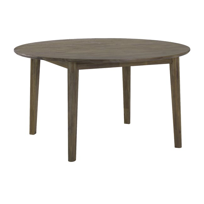 Tilda Round Dining Table 1.4m with 4 Tobias Dining Chairs in Navy - 2