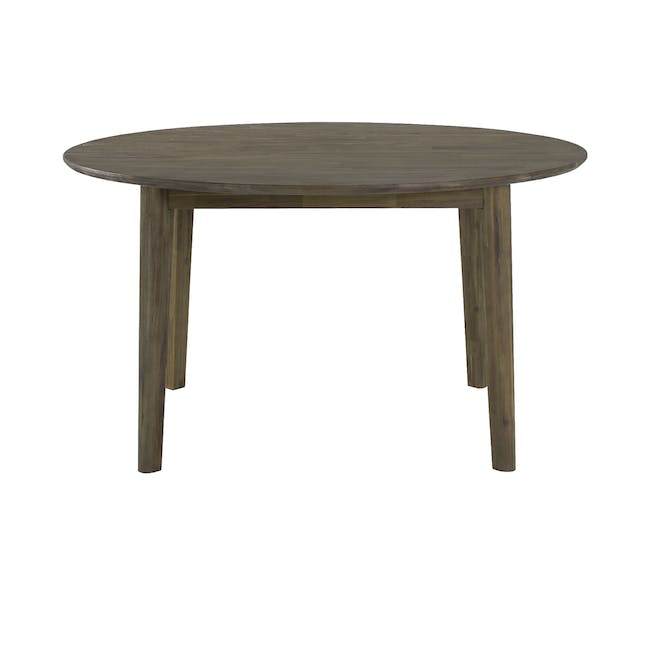 Tilda Round Dining Table 1.4m with 4 Tobias Dining Chairs in Navy - 3