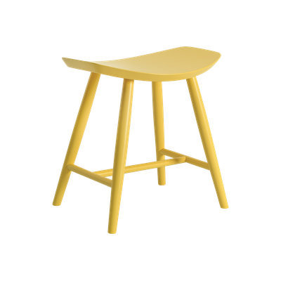 Philana Stool - Dust Yellow Lacquered - Image 1