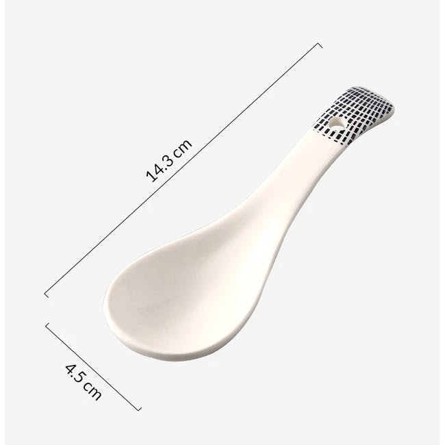 Table Matters Scattered Lines Spoon (2 Sizes) - 3