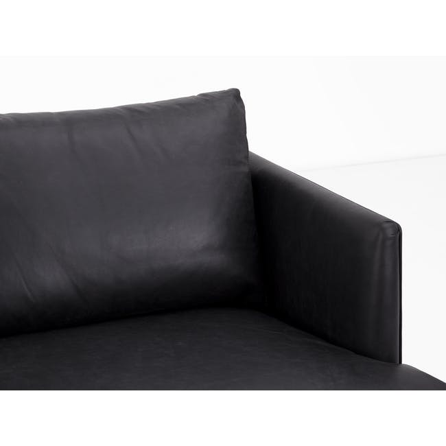Duster 3 Seater Sofa - Charcoal (Premium Leather) - 5
