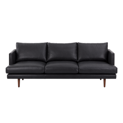 Duster 3 Seater Sofa - Charcoal (Premium Leather) - Image 1