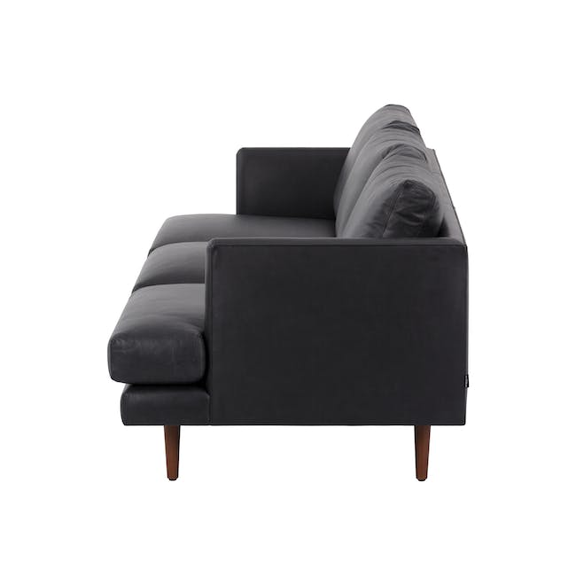 Duster 3 Seater Sofa - Charcoal (Premium Leather) - 3
