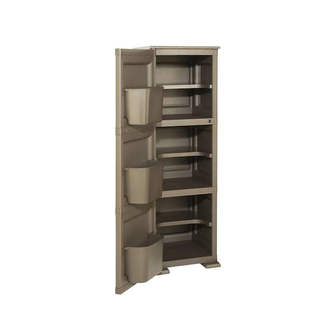 Omnimodus 6 Shelves Shoe Cabinet - Wood Brown - 1