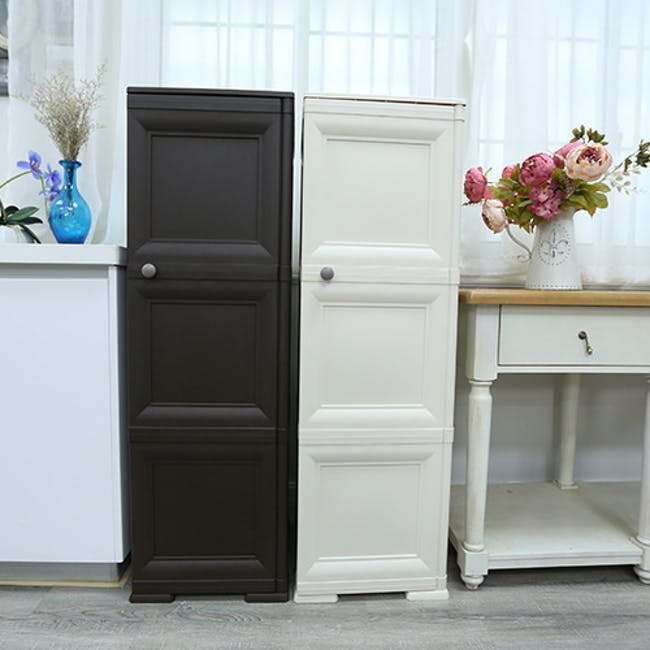 Omnimodus 6 Shelves Shoe Cabinet - Wood Brown - 3