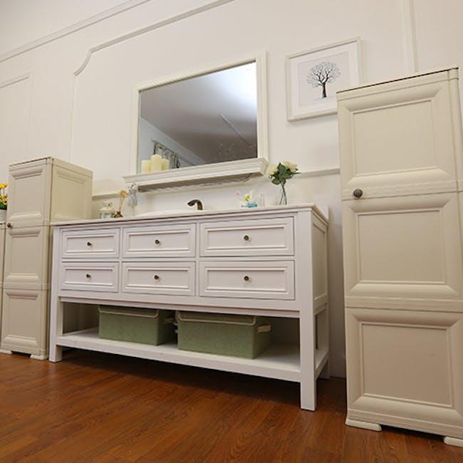 Omnimodus 6 Shelves Shoe Cabinet - Wood Brown - 4
