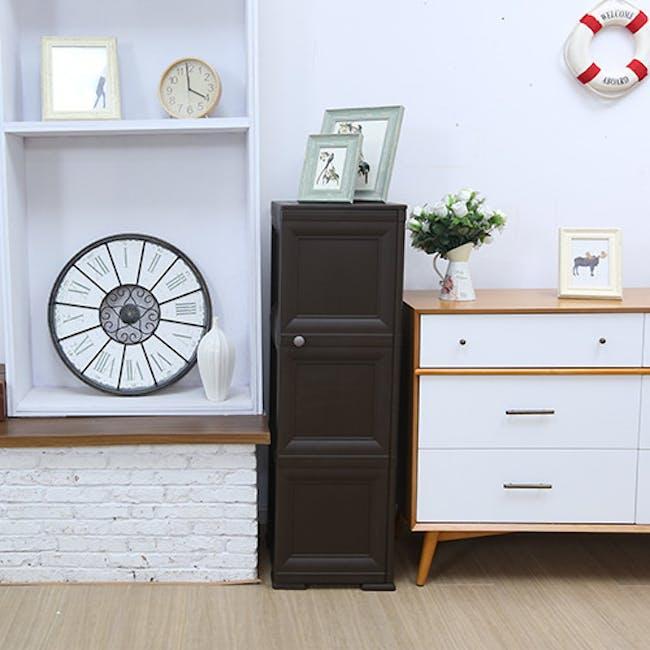 Omnimodus 6 Shelves Shoe Cabinet - Wood Brown - 2