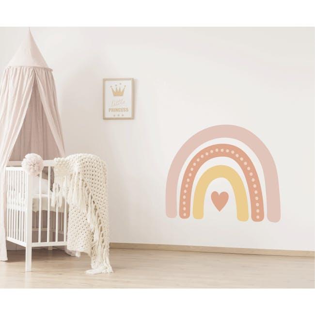 Urban Li'l Boho Jumbo Rainbow Fabric Decal Embellished - Honey (2 Sizes) - 0