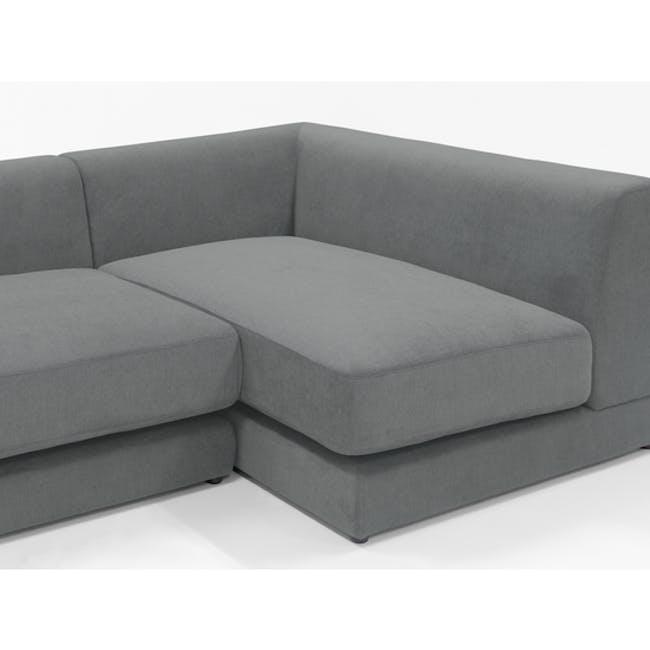 Abby L-Shaped Lounge Sofa - Stone - 11