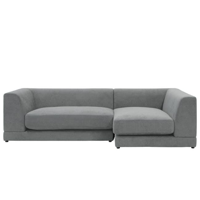 Abby L-Shaped Lounge Sofa - Stone - 0