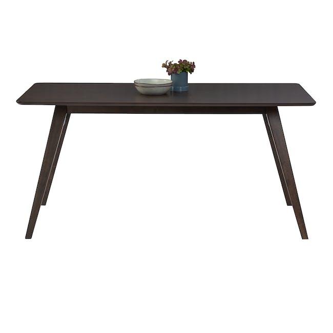 Cadell Dining Table 1.6m - Dark Chestnut - 3