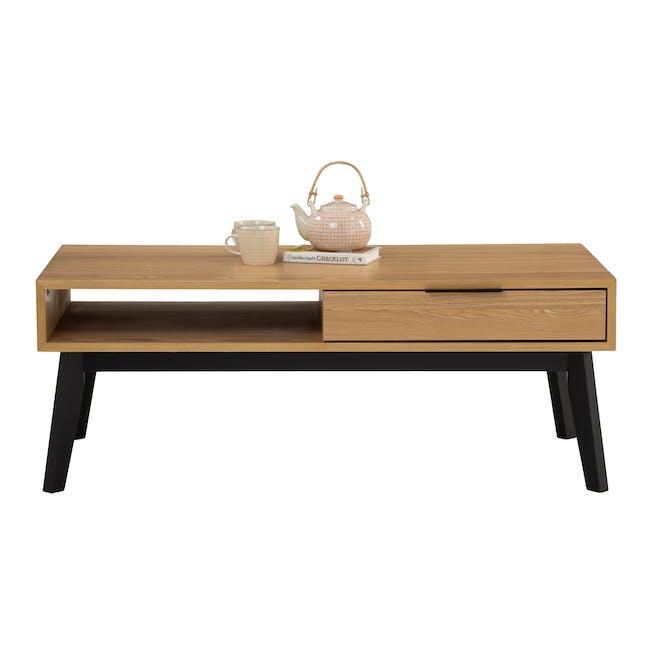 Malton Single Drawer Coffee Table - Oak - 3