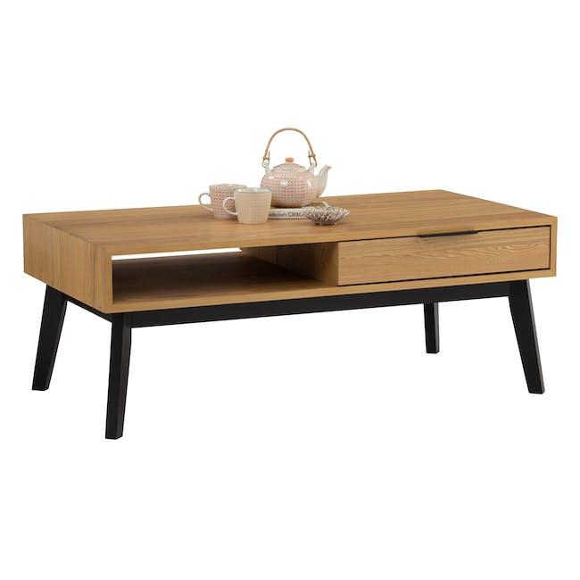 Malton Single Drawer Coffee Table - Oak - 2