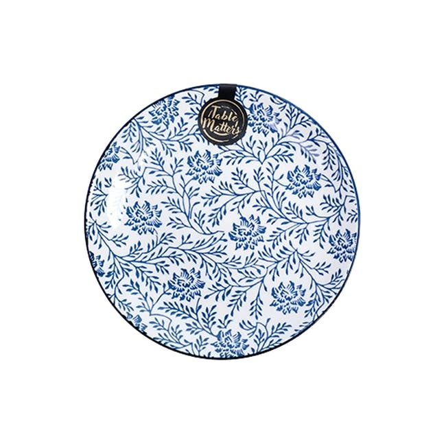 Table Matters Floral Blue Plate (3 Sizes) - 0