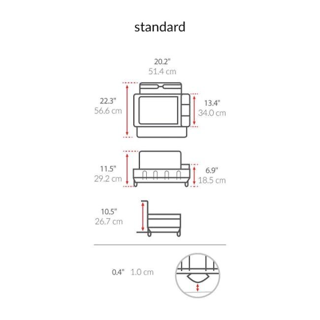 simplehuman Steel Frame Dish Rack - 4