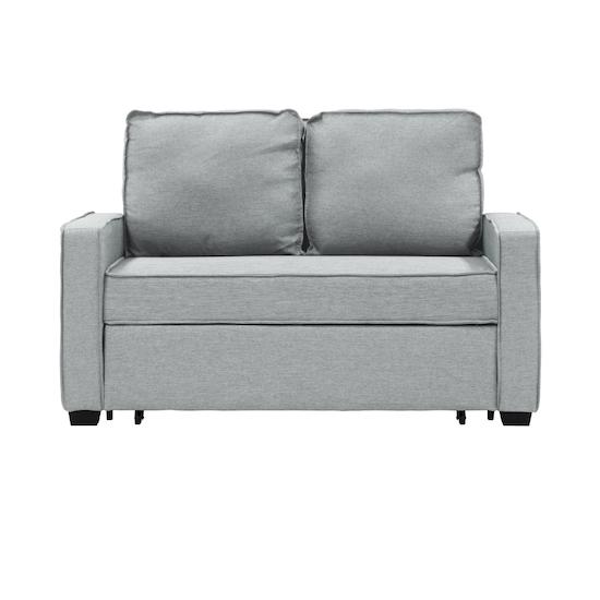 Arturo 2 Seater Sofa Bed - Silver