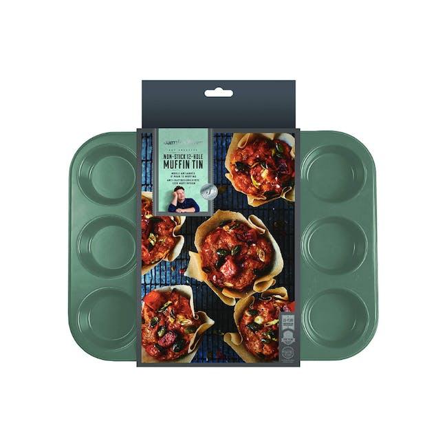Jamie Oliver Atlantic Green Non-Stick Muffin Tin 12 Cups - 4