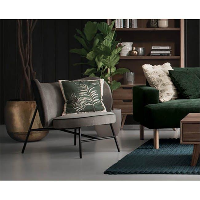 Avenir Lounge Chair - Dark Green, Grey - 2