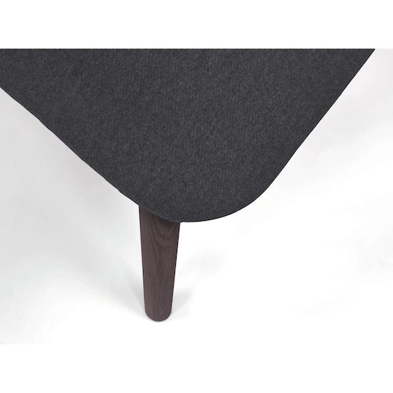 Preloved - (Display Piece) Runa Dining Arm Chair - Battleship Grey, Walnut