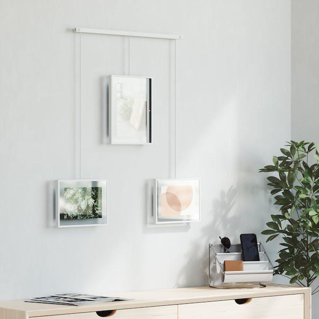 Exhibit 3 Frames Photo Display - White - 5
