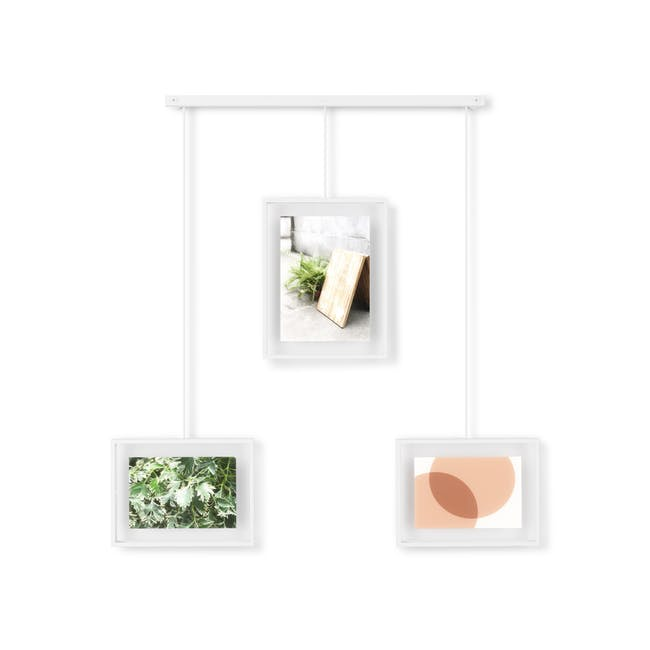 Exhibit 3 Frames Photo Display - White - 0