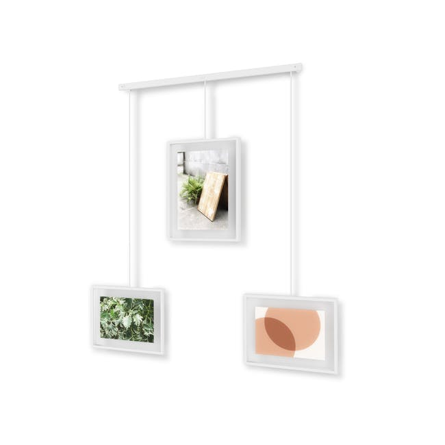 Exhibit 3 Frames Photo Display - White - 2