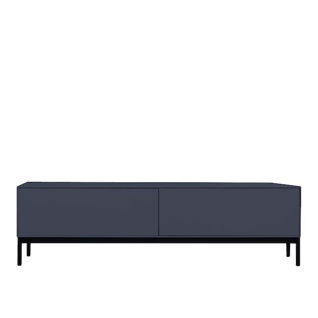Lamont TV Console 1.2m in Grey with Dana Rectangular Coffee Table in Walnut - 1