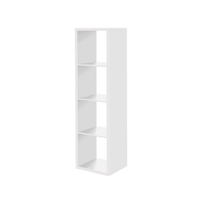 (As-is) Taina 4 Shelving Unit (Column) - White - 5 - 0