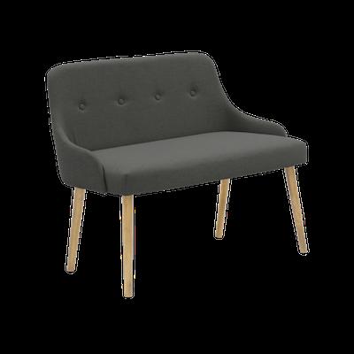 Loren Bench 1m - Grey - Image 2