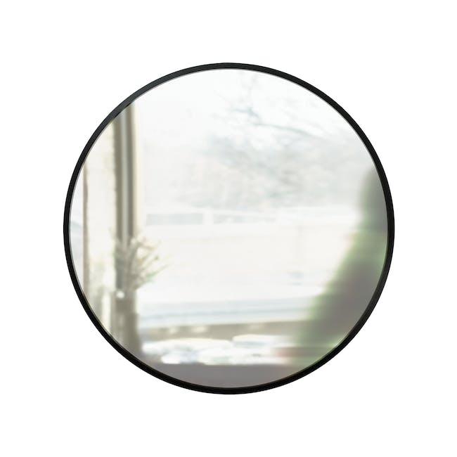 Hub Round Mirror 91 cm - Black - 0