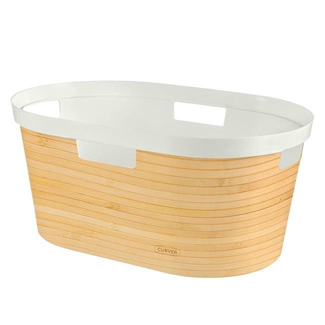 Infinity Laundry Basket - Yellow Bamboo - 0