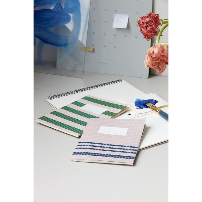 A4 Jule Notebook with A5 Lily Notebook Stationery Set - 3