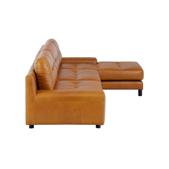 Wyatt L-Shaped Sofa - Butterscotch (Premium Waxed Leather) - 5