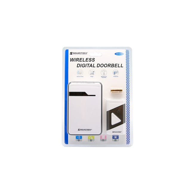 SOUNDTEOH Battery Operated Wireless DoorBell DD-019 - 1