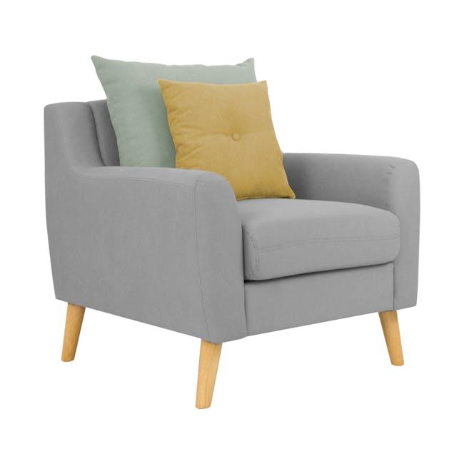 Evan 3 Seater Sofa with Evan Armchair - Slate - 7