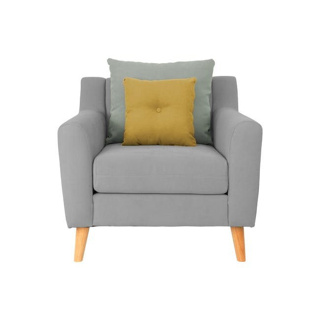 Evan 2 Seater Sofa with Evan Armchair - Slate - 5