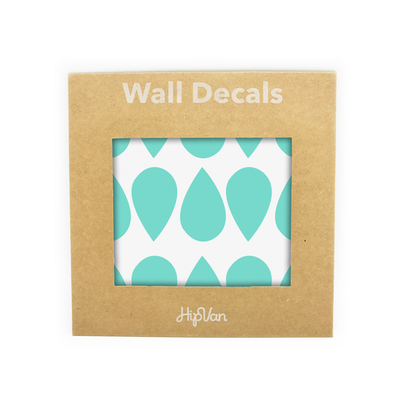 Raindrops Wall Decal (Pack of 45) - Mint