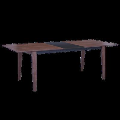 Kiros Extendable Dining Table 1.8m - Walnut, Black - Image 2