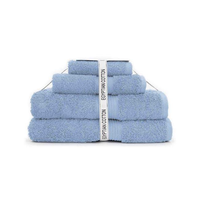 Canningvale Egyptian Royale 4pc Towel Set - Cielo Blue - 0