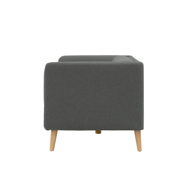Audrey 3 Seater Sofa with Audrey Armchair - Granite - 4
