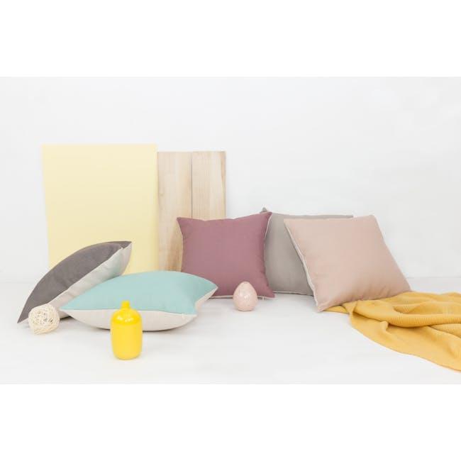 Throw Cushion Cover - Light Grey - 7