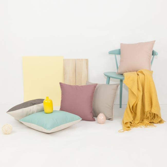 Throw Cushion Cover - Light Grey - 5