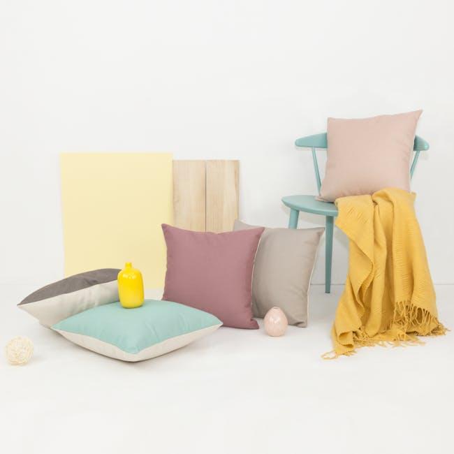 Throw Cushion - Light Grey - 4