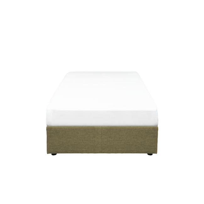 ESSENTIALS Single Box Bed - Khaki (Fabric) - 0