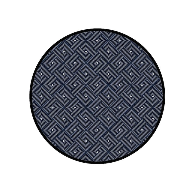 Ease Round Reversible Mat - Blue - 0