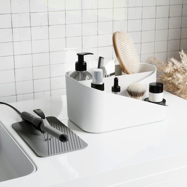 Glam Hair Tool Organiser - White, Grey - 6