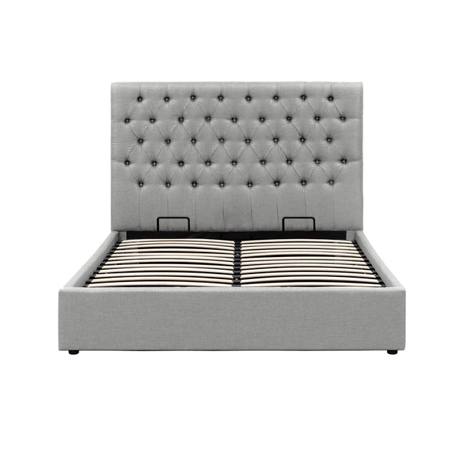 Isabelle Queen Storage Bed - Silver Fox (Fabric) - 2