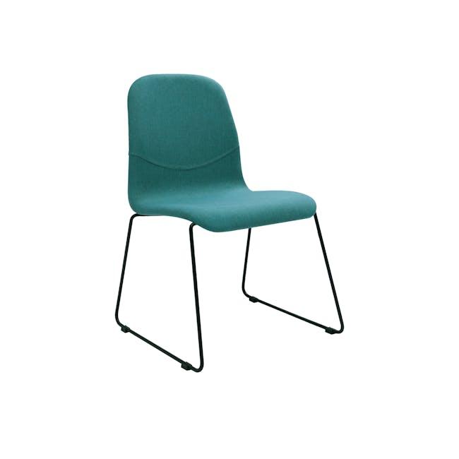 Ava Dining Chair - Matt Black, Emerald - 0