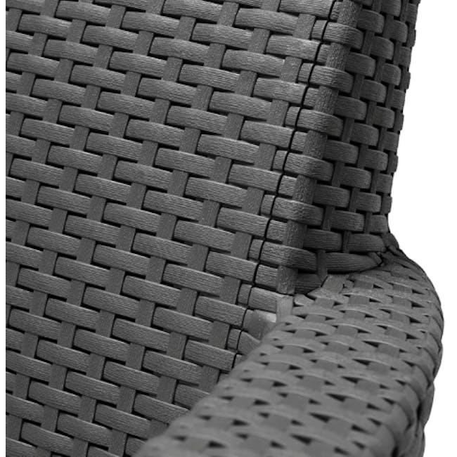 Salemo 2-Seater Lounge Sofa Set - Graphite - 5